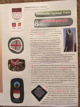 Chichester City Council - Chichester Heritage Trails - Leaflet 8 - 'Notable people'