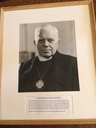 'Bishop Bell' Portrait Photograph by Howard Coster 1953 [stored by the Canon Librarian in Chichester Cathedral's Private Library]